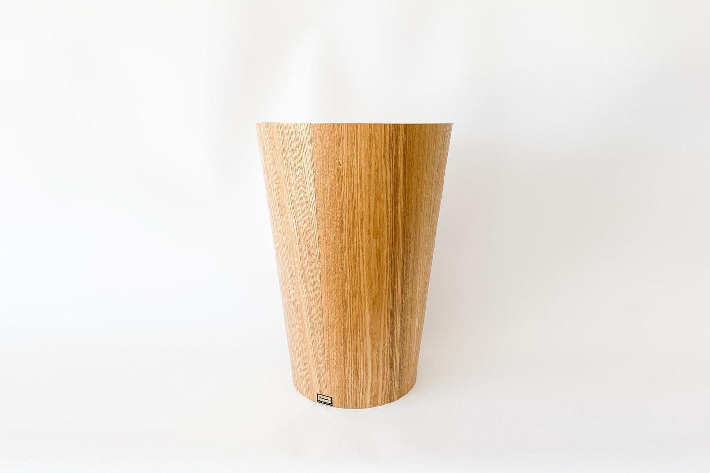 Ash Wood Waste Basket Large