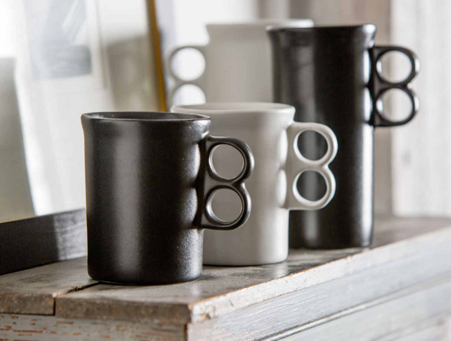 bennington-pottery-white-black-trigger-mugs-remodelista