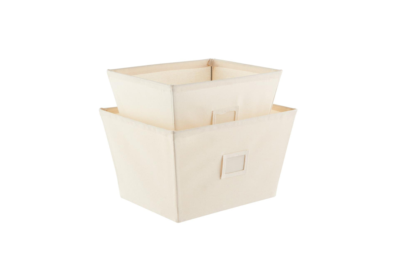 Container Store Open Canvas Storage Bins