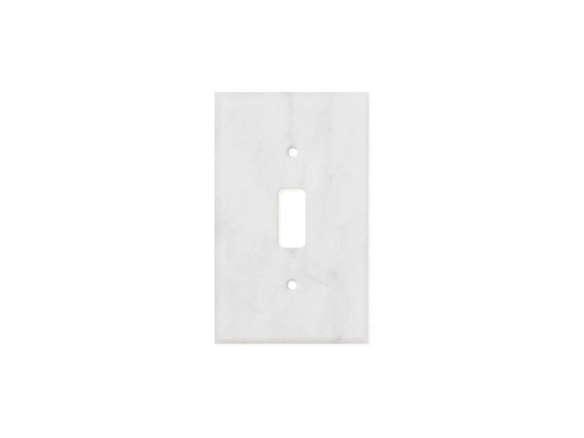 Carrara White Marble Single Toggle Switch Plate
