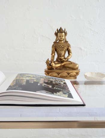 magdalena keck interior design greenwich village pied a terre bhudda detail