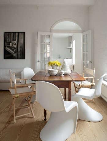 magdalena keck interior design greenwich village pied a terre dining area