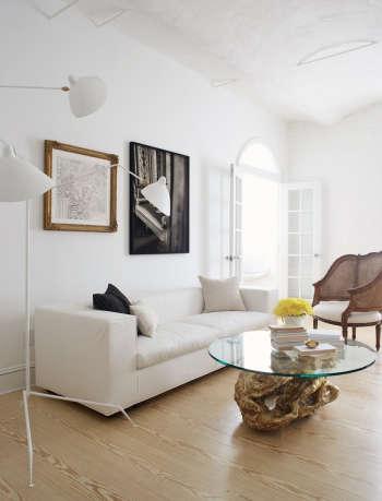 magdalena keck interior design greenwich village pied a terre living room