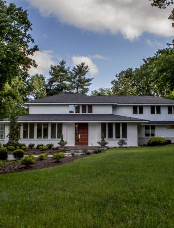 Modern White Brick House