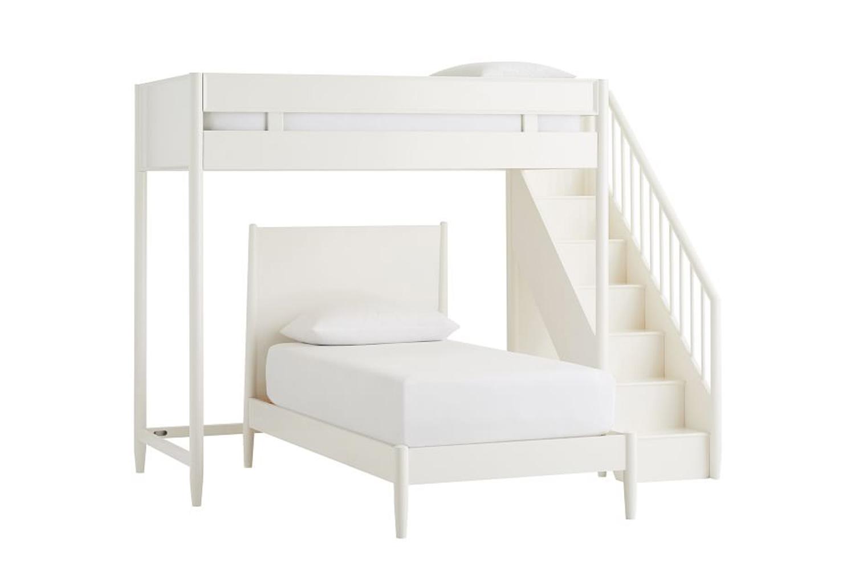 West Elm Midcentury Stair Loft Lower Bed Set