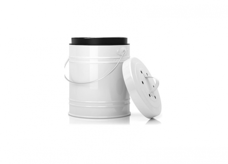 compost pail bucket from Cooler Kitchen at Amazon