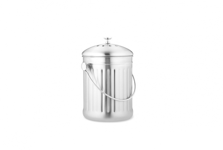 compost pail bucket stainless steel from Williams Sonoma