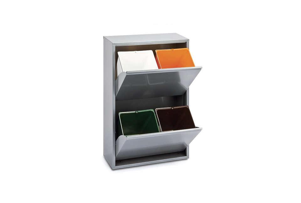 Manufactum 4-Bin Recycling Cupboard
