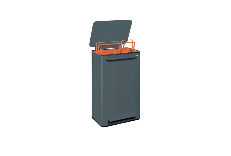 Perigot 2-Bin Mobile Recycling Trash Can