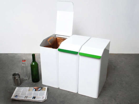 46 Litre Steel Bar Recycler 10 Easy Pieces: Recycling Bins