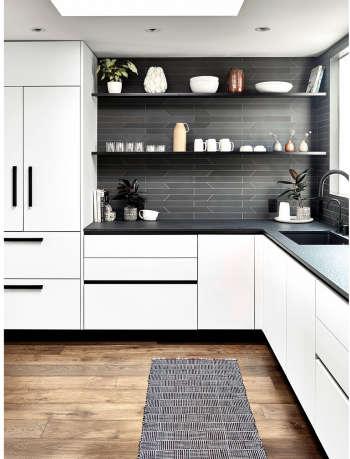 kitchen modern tile white gamble plus design