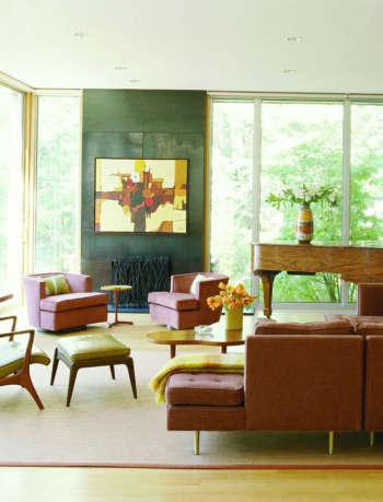 living room kent lake house amy lau design