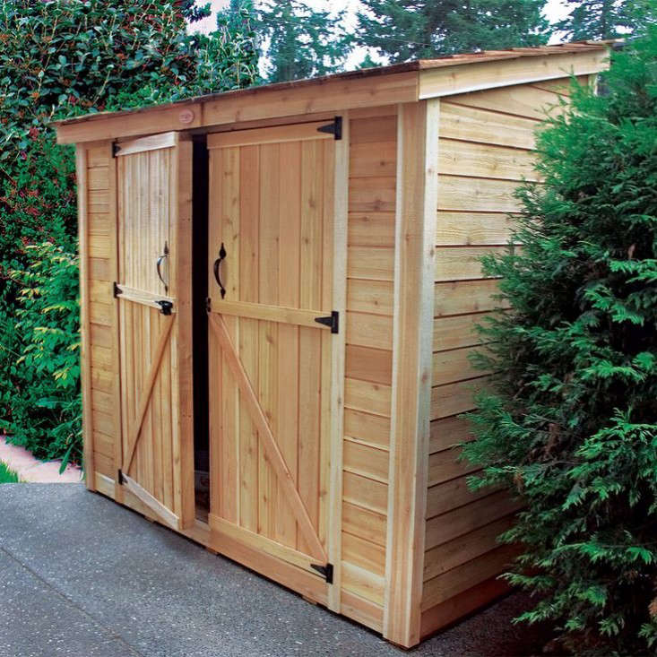 Double Door Lean To Garden Shed Gardenista 733x733