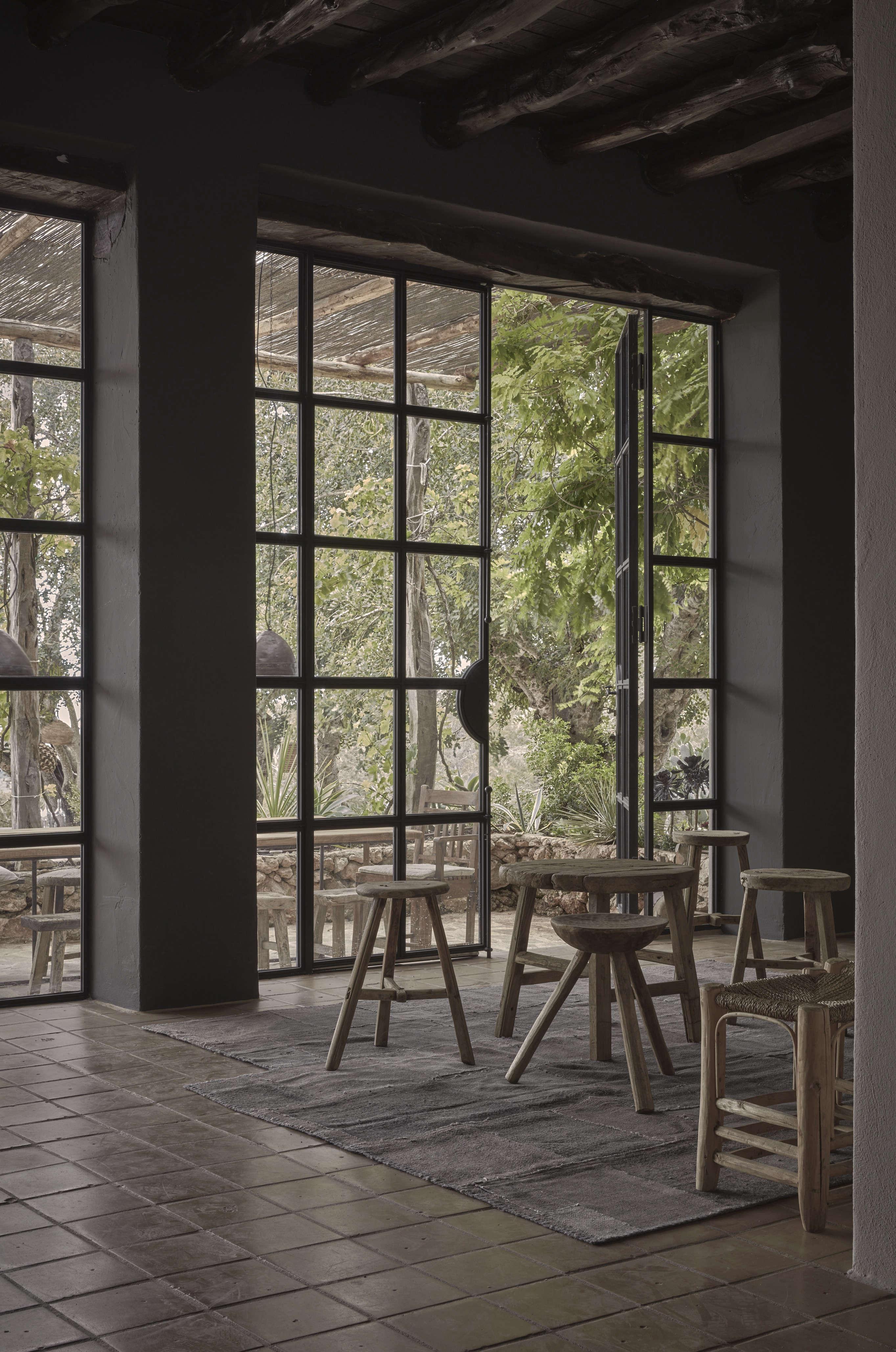 Steel Frame Doors hardscaping 101: steel factory-style windows and doors - gardenista