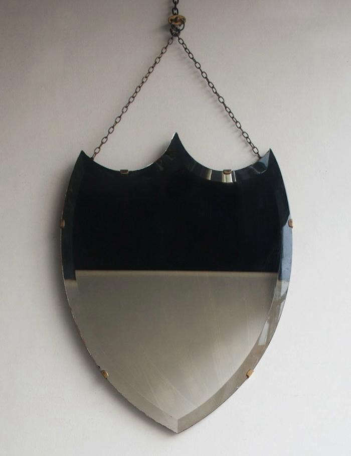 Early-C-20th-Shield-Mirror-Howe