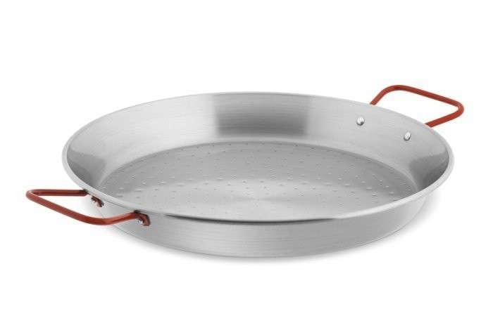 Paella-Pan-Garcima-Steel-Red-Handled
