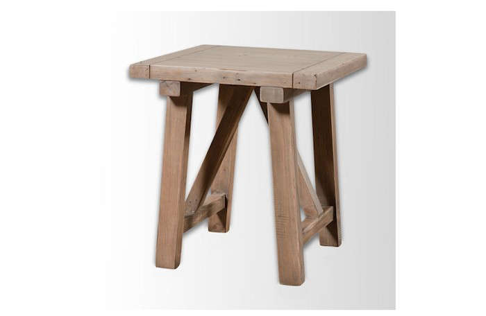 Wooden-Truss-Side-Table