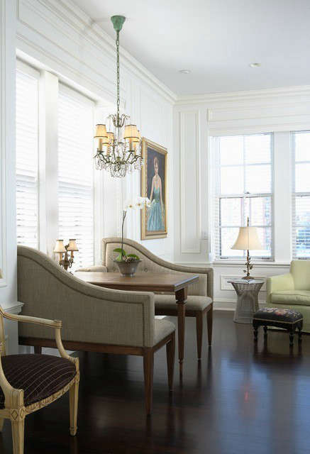 Old World Apartment Breakfast Nook &#8\2\1\1; This cozy breakfast nook is a great place for hanging out anytime of day.