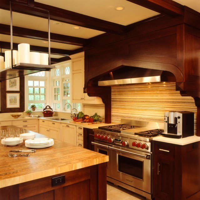 Updated Tudor Modern Kitchen &#8\2\1\1; A streamlined mix of contemporary and traditional creates this very functional kitchen