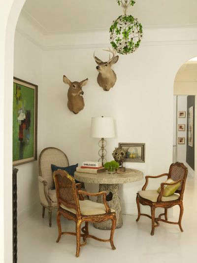 Manhattan Apartment Elclectic Dining Room &#8\2\1\1; This small area functions as a focal point, but also serves as an intimate dining room for four.