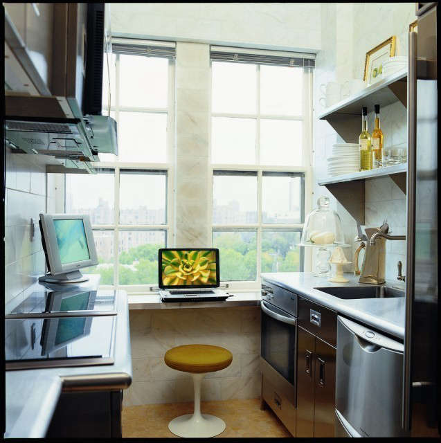 Minneapolis Apartment Modern Kitchen &#8\2\1\1; This one person kitchen is a study in efficiency.