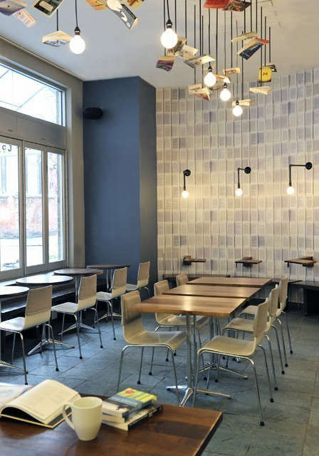 McNally Jackson Cafe Seating Area &#8\2\1\1; click here to learn more about the project