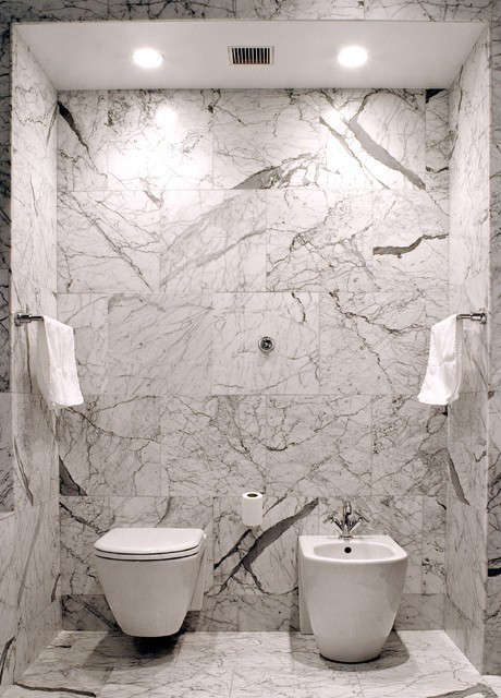 master bath marble opulence at the Bluewater Loft