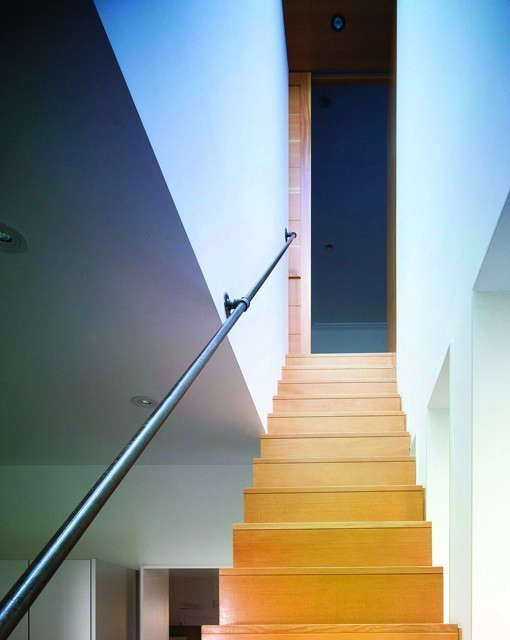 a minimalist stair for the traditional Harlem Townhouse: click here for more information on the Harlem Townhouse Photo: Cameron Neilson