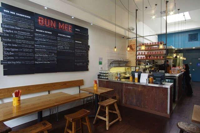 "Bun Mee &#8\2\1\1; Owner Denise Tran wanted to create a ""bustling urban Asian diner and sandwich shop"" to serve her modern reinterpretation of Vietnamese street food, the Bahn Mi sandwich."