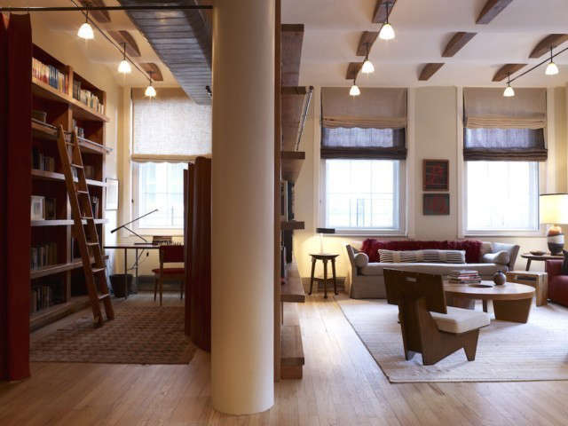 Tribeca Loft Living Room/ study Photo: Eric Laignel