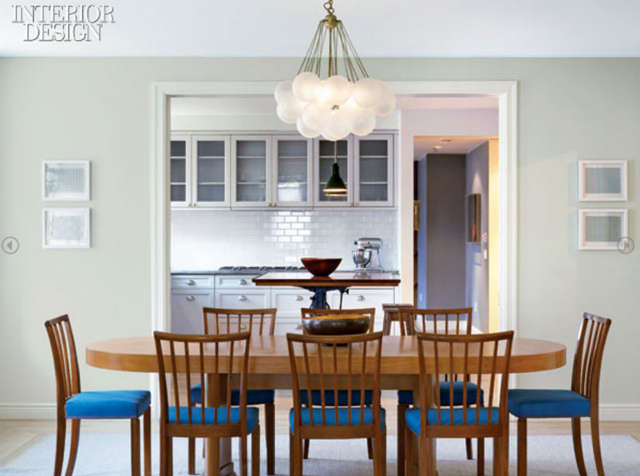 West Village Dining Room &#8\2\1\1; The Dining Table and chairs are Swedish from the \1940&#8\2\17;s . The light fixture is from Apparatus