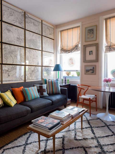 A sitting room, London: