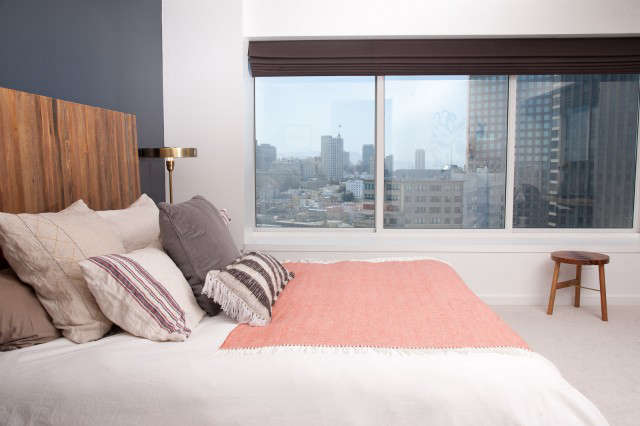 Downtown Penthouse Bedroom &#8\2\1\1; The bedroom of a Geremia Design residential project in downtown San Francisco. Visit our website for more information.