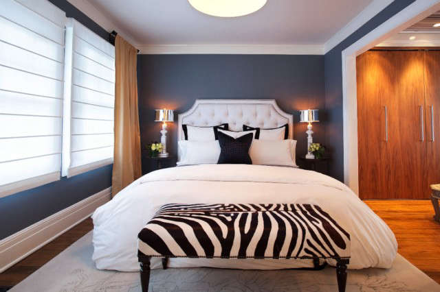 Pao Alto Residence Bedroom &#8\2\1\1; The bedroom of a Geremia Design residential project in Pao Alto, CA. Visit our website for more information.
