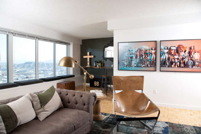 Downtown Penthouse &#8\2\1\1; Living Room of a Geremia Design residential project in Downtown San Francisco, CA. Visit our website for more information.