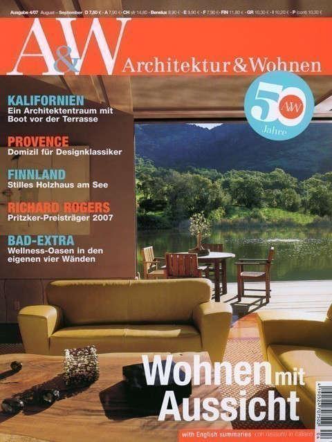 Architektur & Wohnen: Architektur & Wohnen, Versteckspiel Am See, August-September \2007Stags Leap Residence Photo: Alan Weintraub / Arcaid