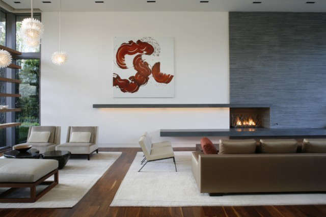 Living room: Living room showing both seating arrangements Photo: Art Gray