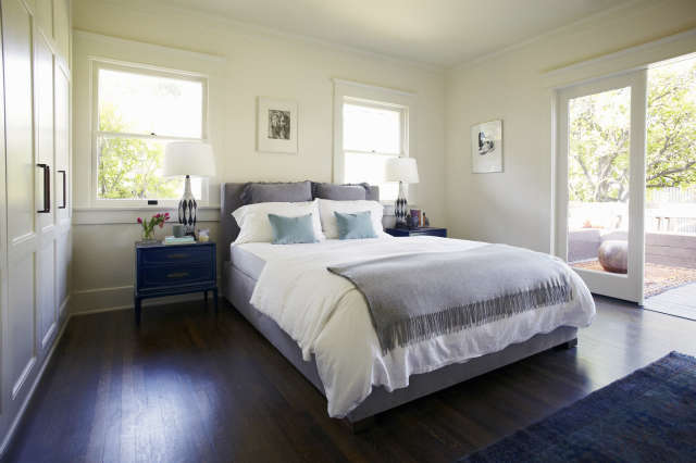 Master Bedroom, Canyon Residence Photo: Joe Schmelzer