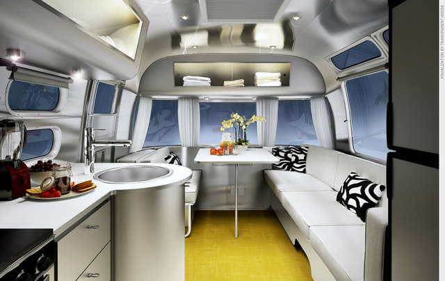 Airstream Sterling: The newest production interiors for Airstream. Photo: Christopher C. Deam