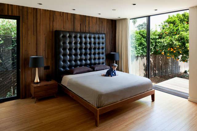 Hollywood Bungalow Master Bedroom Photo: Nicholas Alan Cope