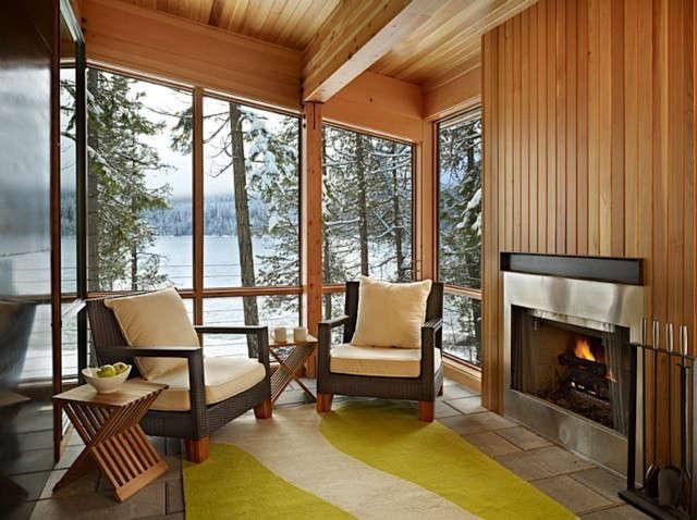 North Lake Wenatchee Cabin Porch Photo: Ben Benschneider