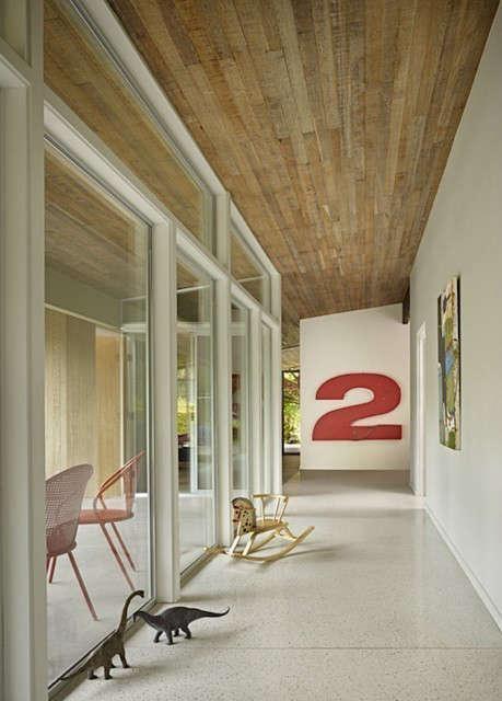 Lakewood Mid-Century Remodel Hallway Photo: Ben Benschneider