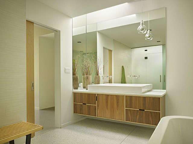 Lakewood Mid-Century Remodel Master Bathroom Photo: Ben Benschneider