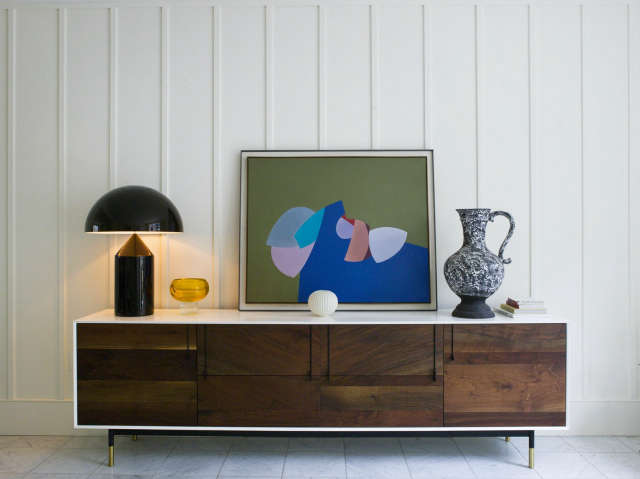 Notting Hill home: Bespoke cabinet and vintage pieces Photo: Chris Tubbs