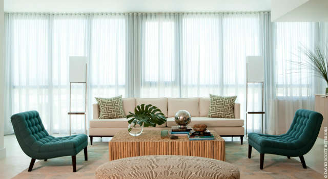 Miami Oceanfront Living Room Photo: Antoine Bootz