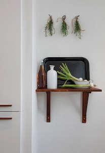 Black Tray Swedish Kitchen/Remodelista