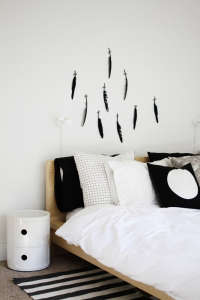 Feather Headboard A Merry Mishap/Remodelista