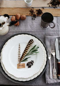 Feather Place Setting Remodelista