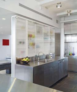 Murphy Burnham & Buttrick Architects, New York Loft kitchen, stainless steel island | Remodelista
