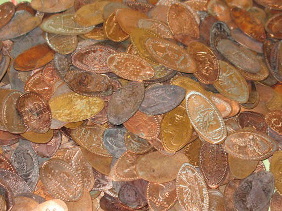 30 Elongated Coin Lot Smashed Penny Coin Lot